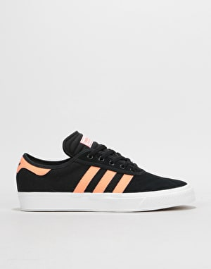 Adidas Adi-Ease Premiere Skate Shoes - Core Black/Chalk Coral/White
