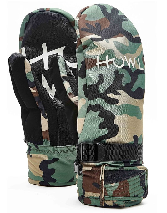 Howl Fairbanks 2018 Snowboard Mitts - Camo