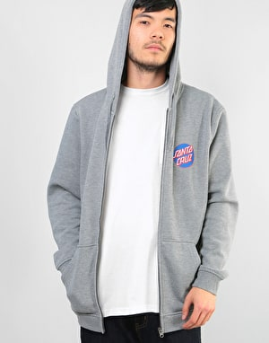 Santa Cruz Dot Zip Hoodie - Dark Heather