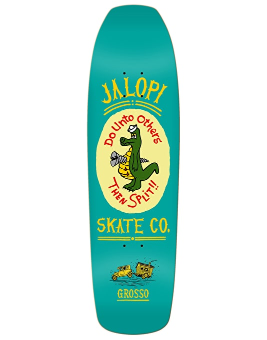 Jalopi Skate Co. (Anti hero) Grosso Skateboard Deck - 9.25""