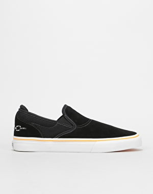 Emerica x French Wino G6 Slip-On Skate Shoes - Black