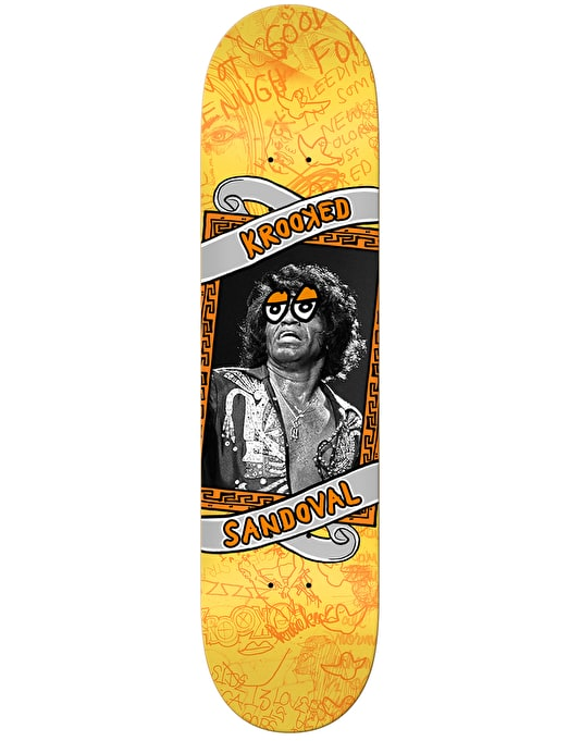 """Krooked Ronnie Personality Krisis Skateboard Deck - 8.5"""""""