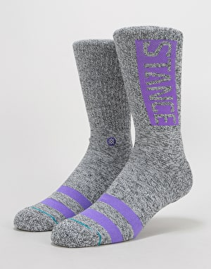 Stance OG Classic Crew Socks - Heather Grey
