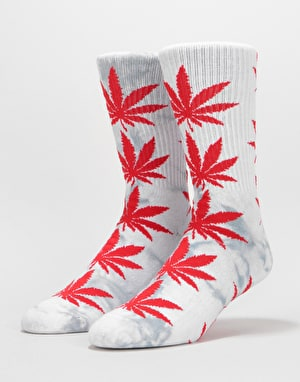 HUF Plantlife Tie Dye Crew Socks - Grey