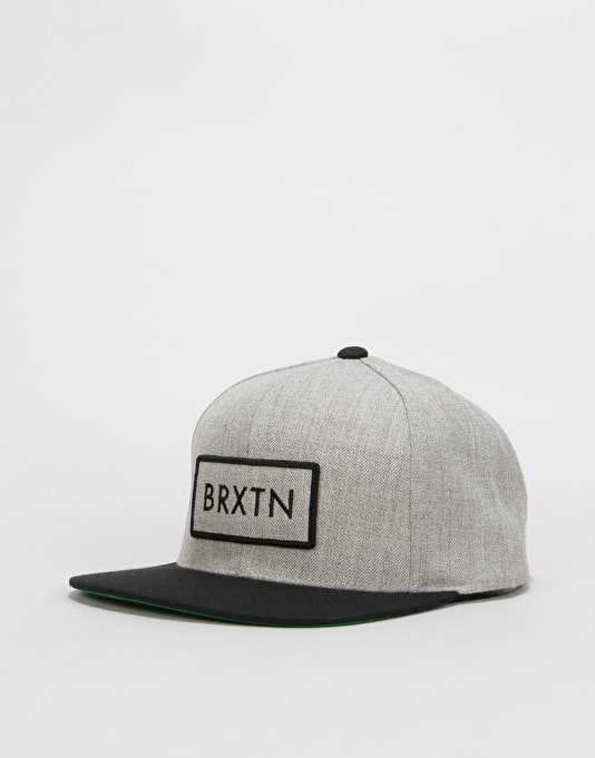 f1ea76b7dcf Brixton Rift Snapback Cap - Light Heather Grey Black