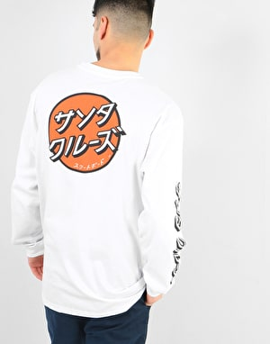 Santa Cruz Japanese Dot L/S T-Shirt - White