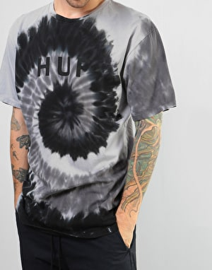 HUF OG Logo Spiral Wash T-Shirt - Black