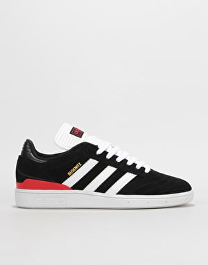 Adidas Busenitz Pro Skate Shoes - Core Black/White/Scarlet