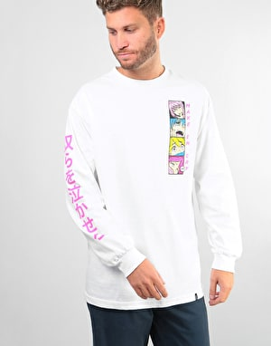 HUF Make Em Cry L/S T-Shirt - White