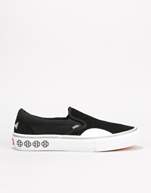 Vans x Independent Slip-On Pro Skate Shoes - (Independent) Black/White