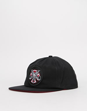Independent x Thrasher Pentagram Cross Snapback Cap - Black