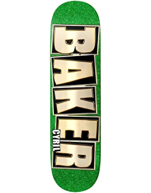 Baker Cyril Brand Name Glitter Skateboard Deck - 8