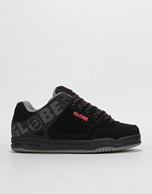 Globe Tilt Skate Shoes - Black/Black/Red