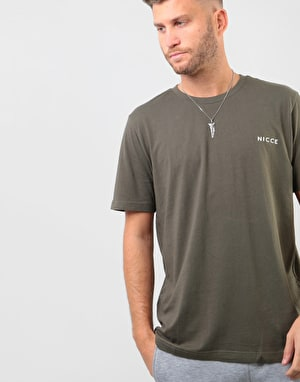 Nicce Chest Logo T-Shirt - Olive