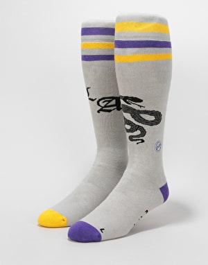 Stinky x Ashbury Eyewear Snowboard Socks - Grey/Yellow