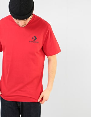 Converse Star Chevron Left Chest T-Shirt - Enamel Red