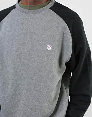 Enjoi Stardust Panda Crew - Gunmetal Heather/Black