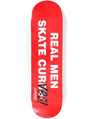Lovenskate Real Men Skate Curves Team Deck - 8.25