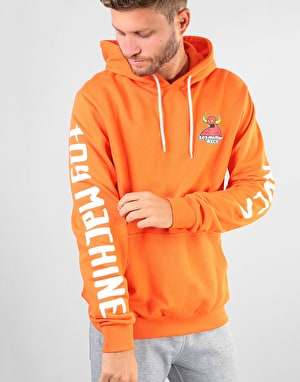RVCA x Toy Machine Small Logo Pullover Hoodie - Bright Orange