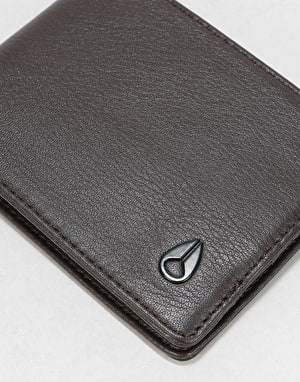 Nixon Heros Bi-Fold Leather Wallet - Brown