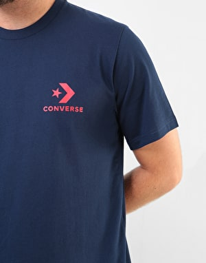 Converse Star Chevron Left Chest T-Shirt - Obsidian