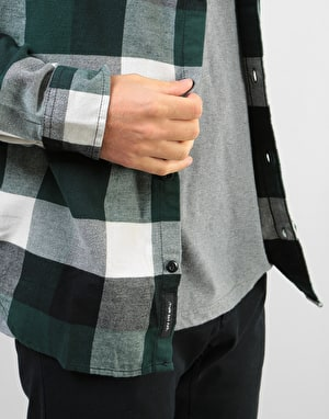 Vans Box Flannel L/S Shirt - Darkest Spruce-Natural