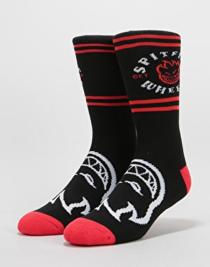 Spitfire Classic Bighead Socks - Black/Red/White