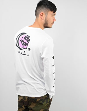 Nike SB DFC Moon L/S Dri-Fit T-Shirt - White/White/Black