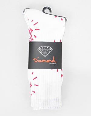 Diamond Supply Co. Outshine Crew Socks - White