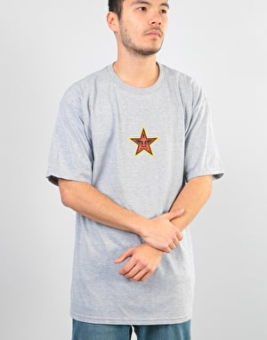 Obey Obey Star Face T-Shirt - Heather Grey