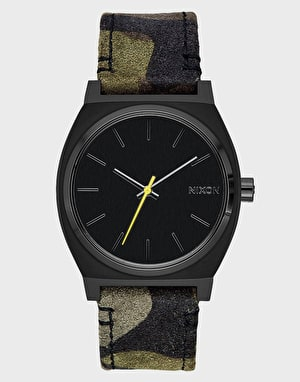 Nixon Time Teller Watch - Black/Camo/Volt