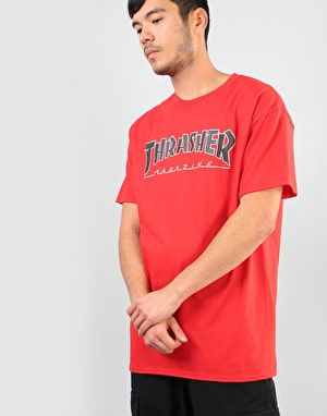 Thrasher Outlined T-Shirt - Red