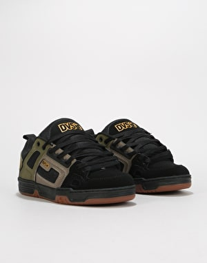 DVS Commanche Skate Shoes - Brindle Burnt Olive/Black Nubuck