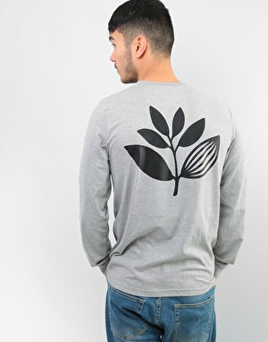 Magenta Plant L/S T-Shirt - Heather Grey