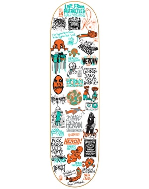 Heroin 20 Year Part II Skateboard Deck - 8.125
