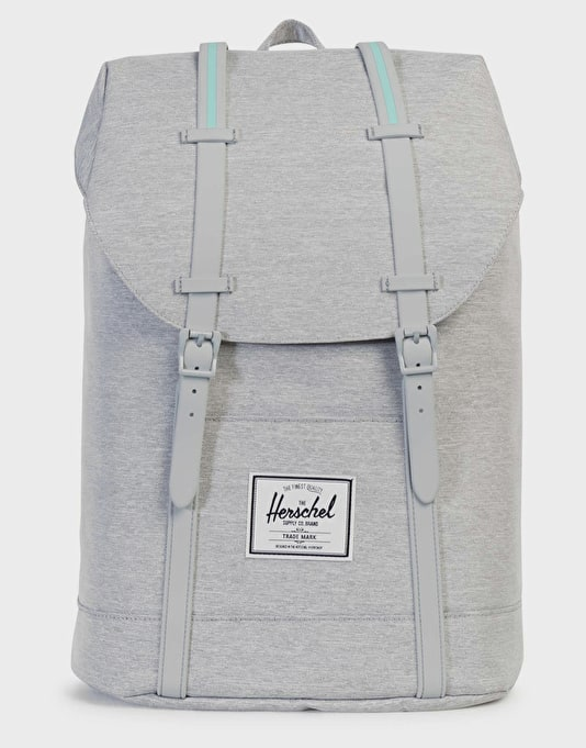 Herschel Supply Co. Retreat Backpack - Light Grey Crosshatch Grey    Backpacks   Bags   Skate Accessories   Route One f34f8abf42