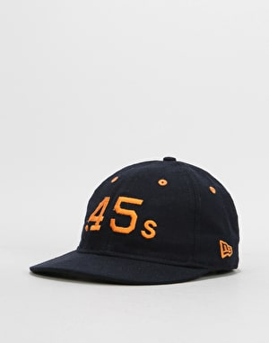 New Era 9Fifty MLB Houston Colts Low Profile Flannel Strapback Cap - Navy/