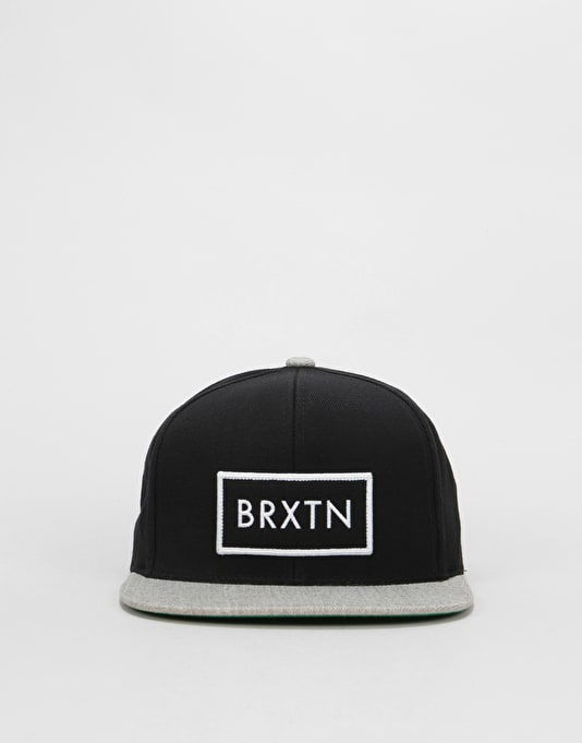 965f6cd0c98 Brixton Rift Snapback Cap - Black Light Heather Grey