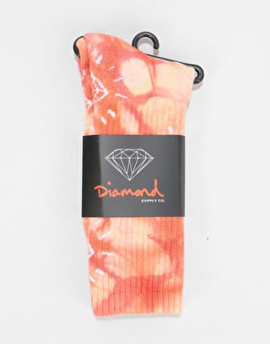 Diamond Supply Co. Outshine Washed Crew Socks - Coral