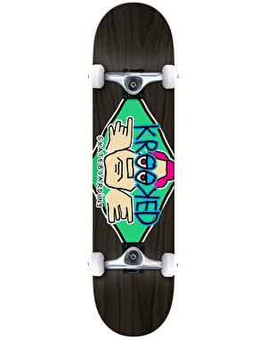 Krooked Diamond Eyes Complete Skateboard - 7.75