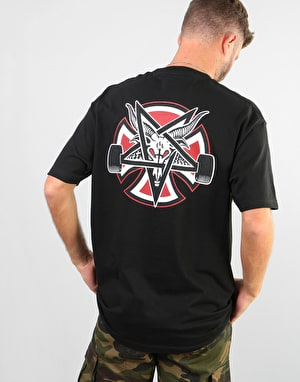 Independent x Thrasher Pentagram Cross T-Shirt - Black