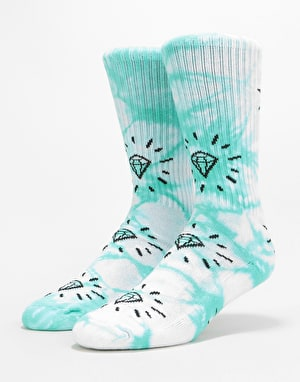 Diamond Supply Co. Outshine Washed Crew Socks - Diamond Blue