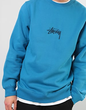Stüssy Stock Applique Crew - Ocean