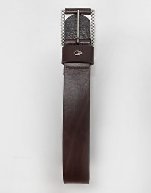 Nixon Americana Leather Belt - Dark Brown