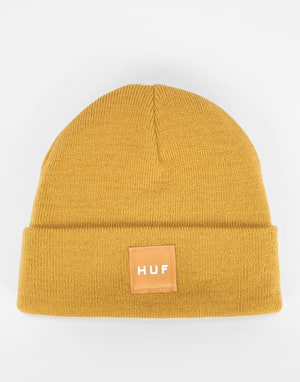 HUF Box Logo Beanie - Honey Mustard