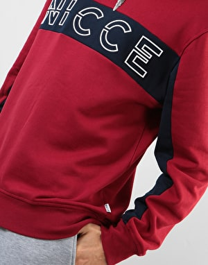 Nicce Colt Sweatshirt - Merlot Red/Deep Navy
