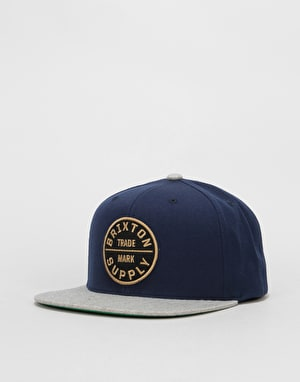 Brixton Oath III Snapback Cap - Navy/Light Heather Grey