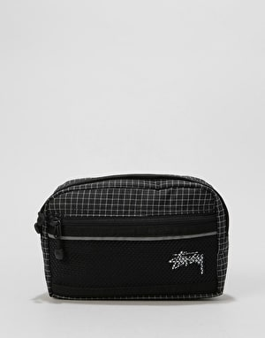 Stüssy Ripstop Nylon Waist Body Bag - Black