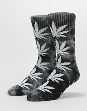 HUF Plantlife Tie Dye Crew Socks - Black