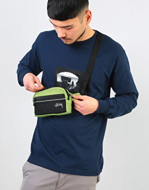 Stüssy Ripstop Nylon Waist Body Bag - Lime